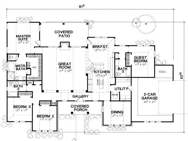 single story house plans with guest quarters homeca