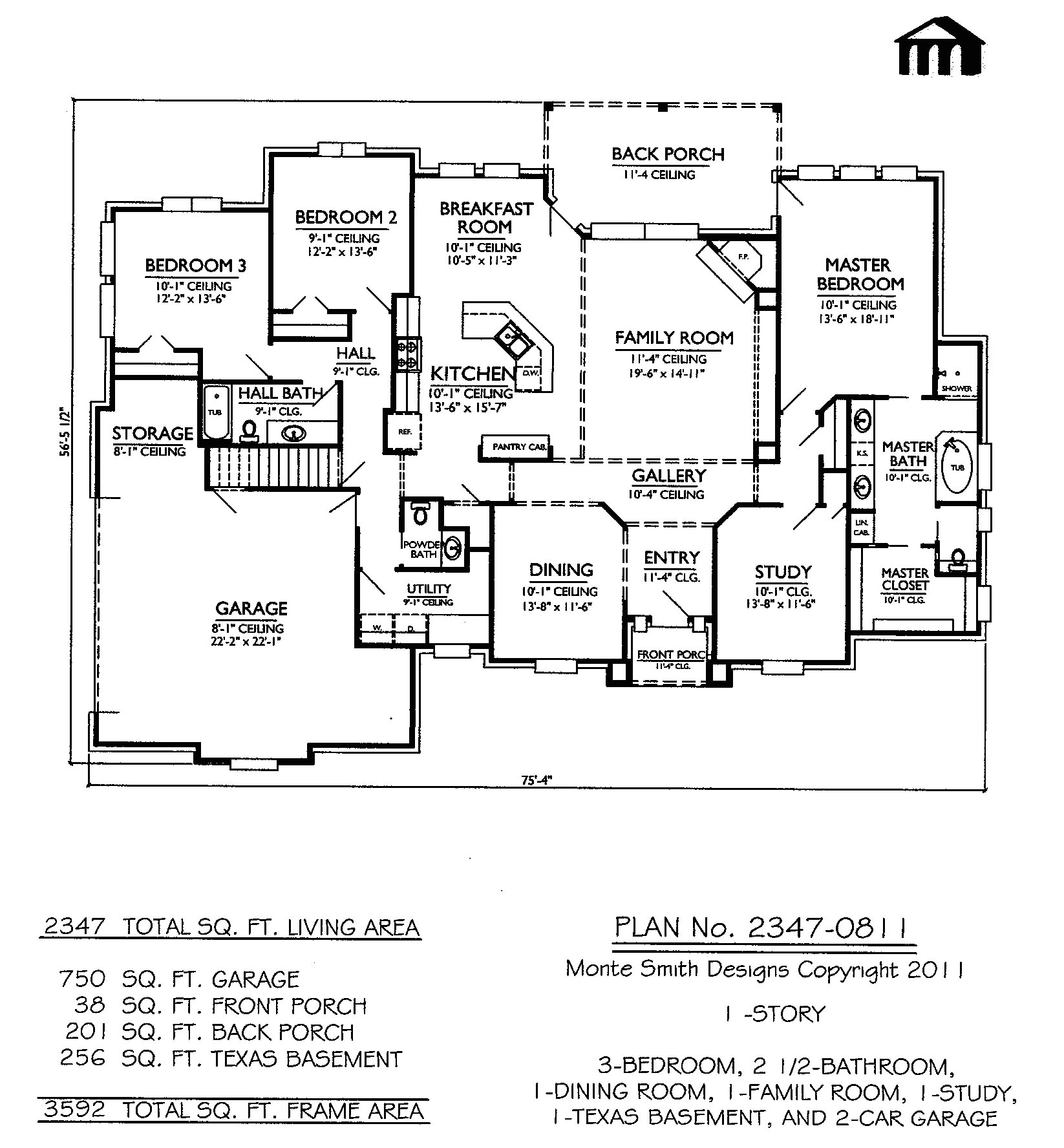 small one story retirement house plans
