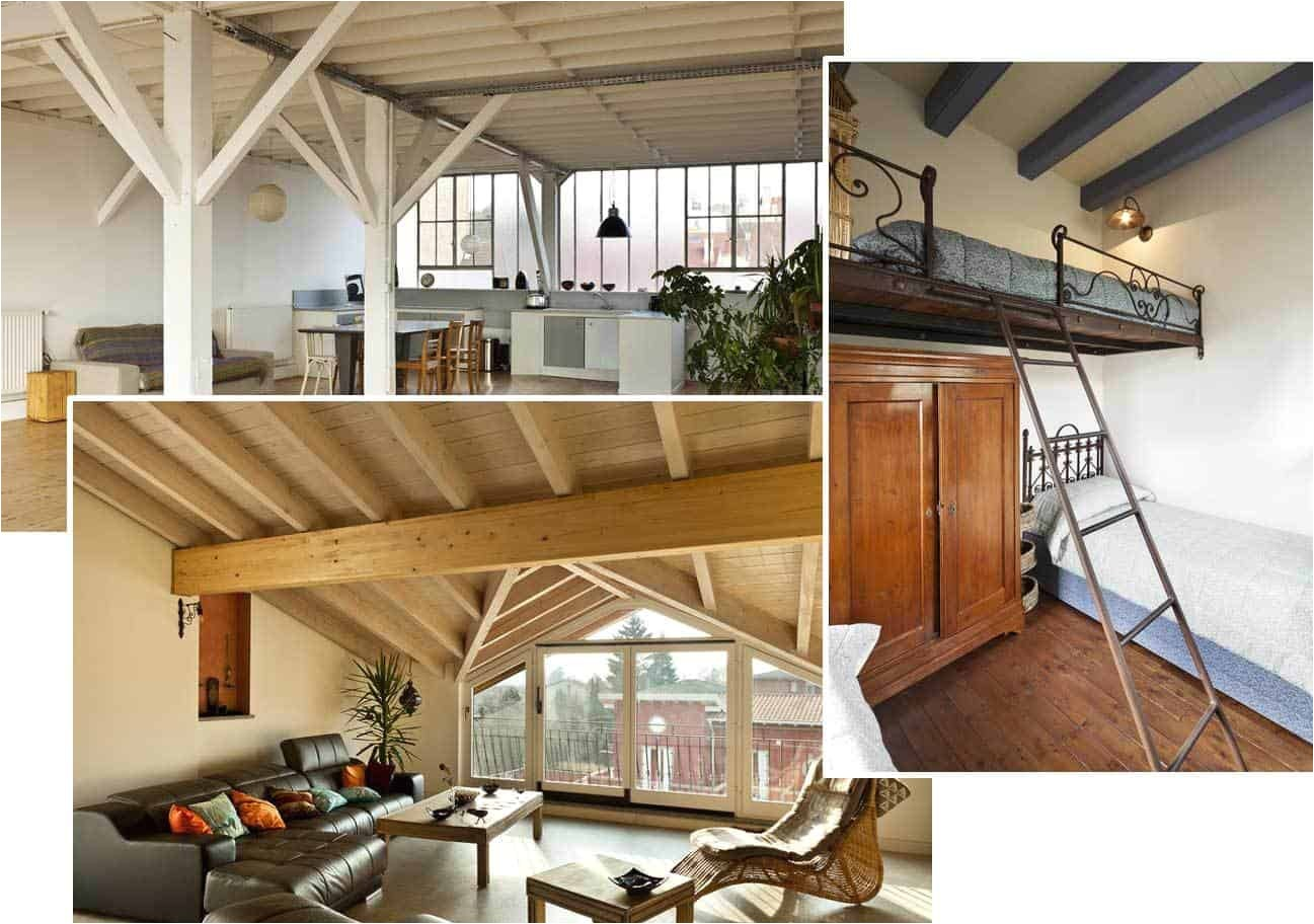 loft open floor plans or open rooms