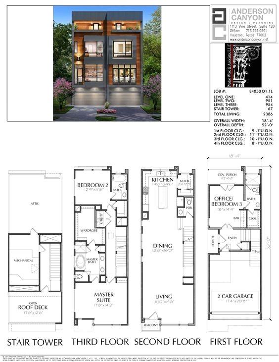 luxury townhouse floor plans
