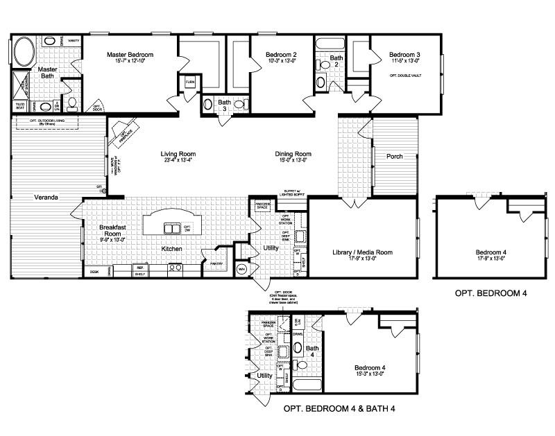 palm harbor homes floor plans elegant the hacienda ii vr a manufactured home floor plan or modular