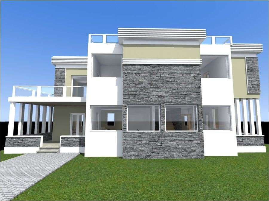 parapet roof home design