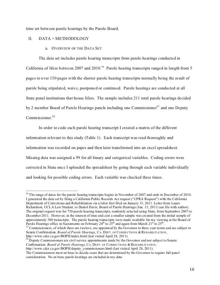 sample letter for parole board