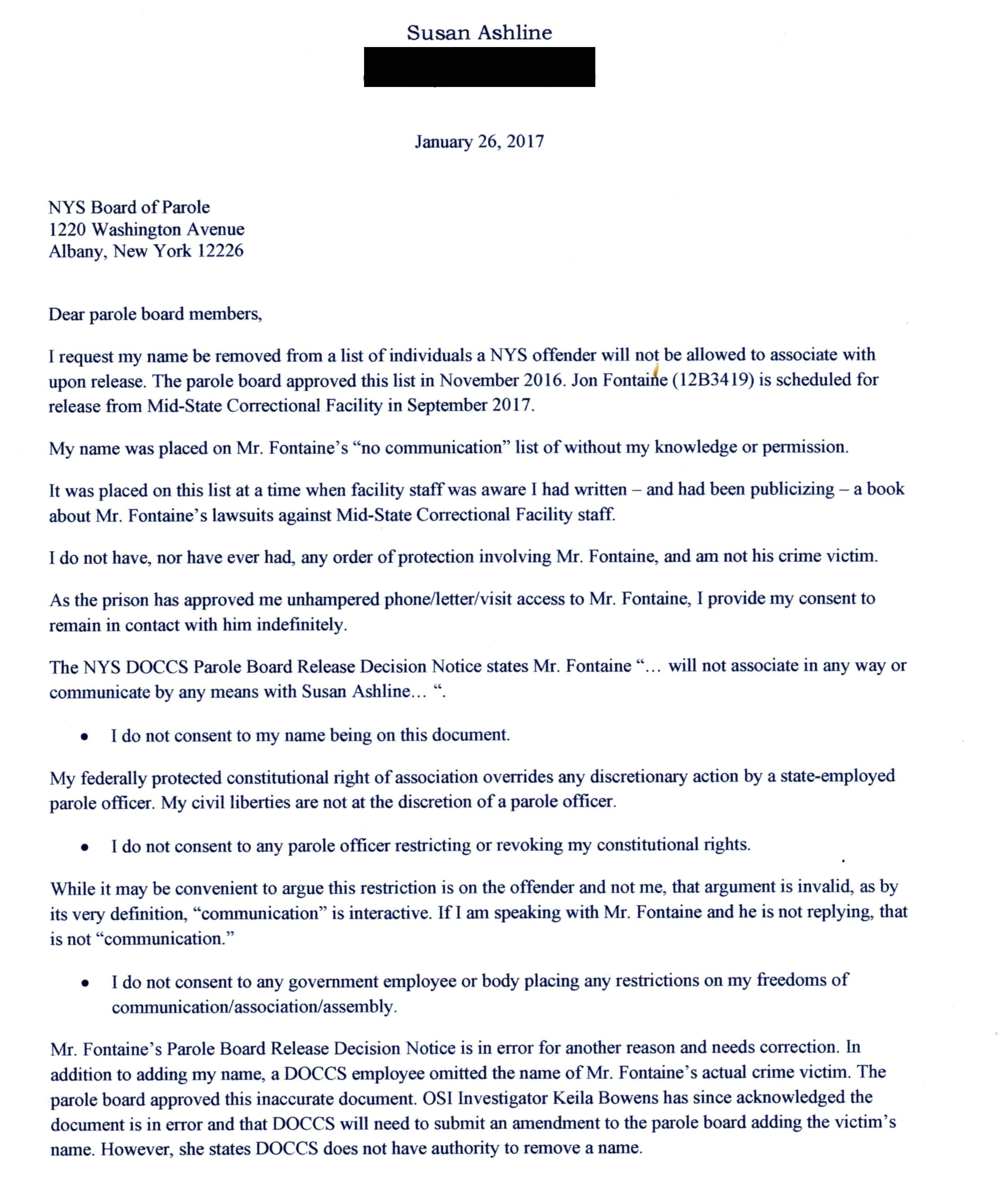Parole Home Plan Approved Sample Letter for Parole Board Cover Letter Samples