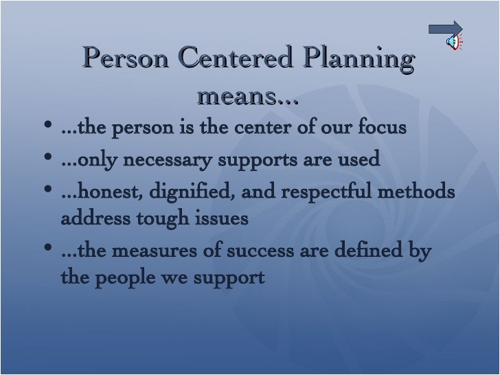 person centred planning in nursing homes