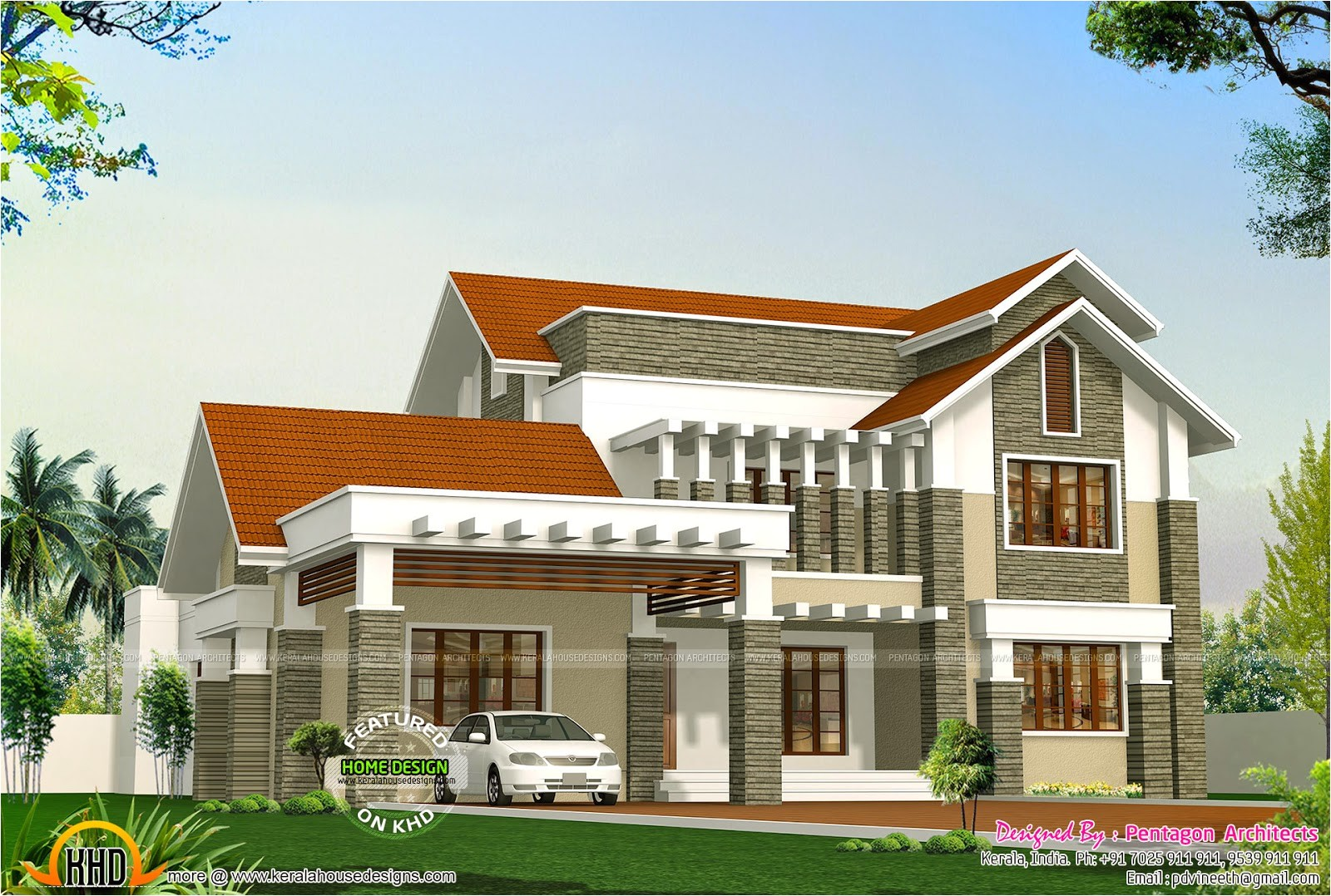 kerala houses by pentagon architects