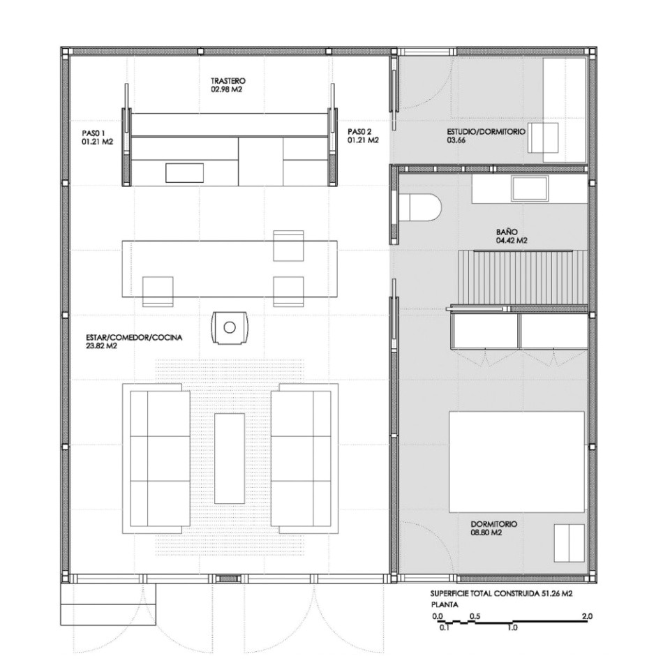 dmp arquitectura prefab prototype floorplan via smallhousebliss