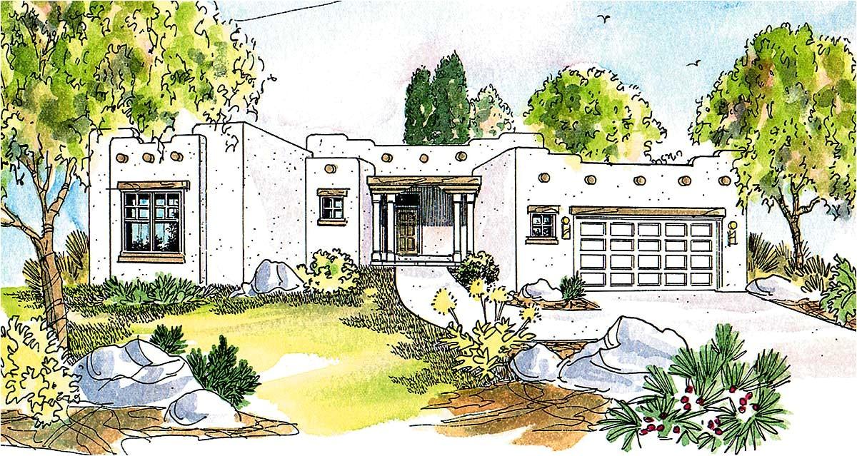 pueblo style house plan 72191da