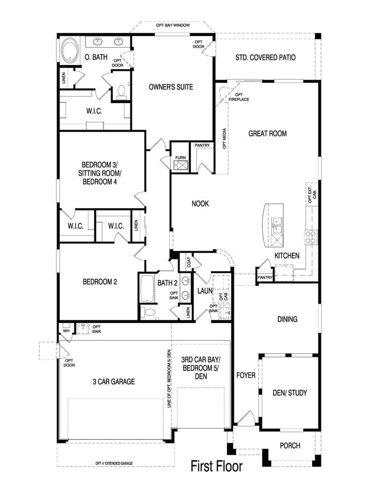 pulte homes floor plans