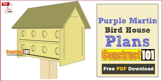 purple martin bird house plans 16 unit