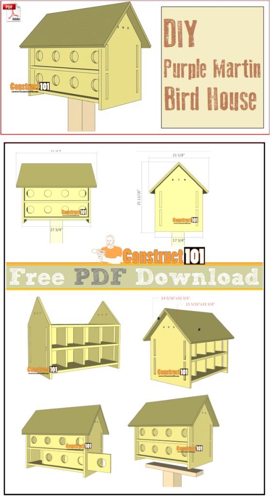purple martin bird house plans 16 units pdf download