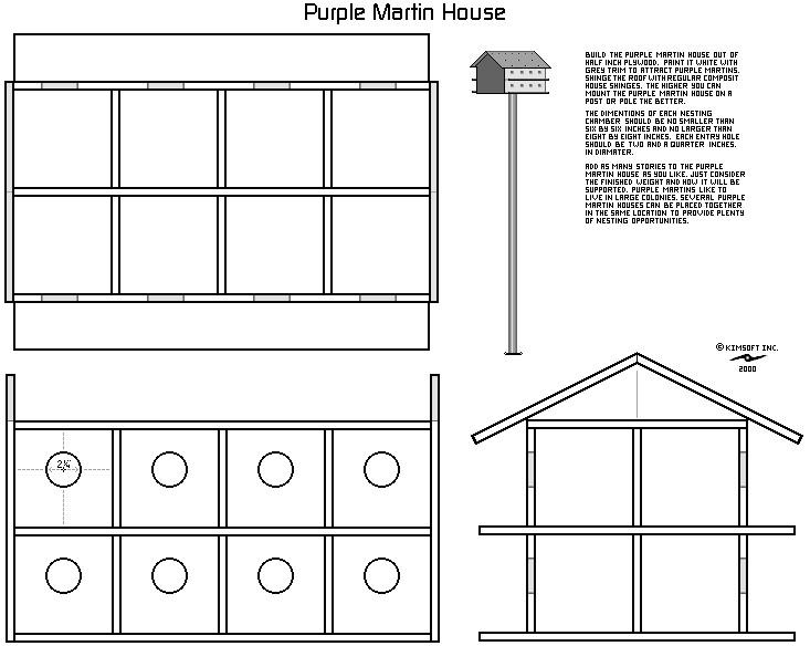 purple martin bird house design