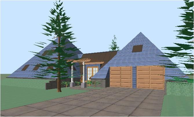 pyramid house plans