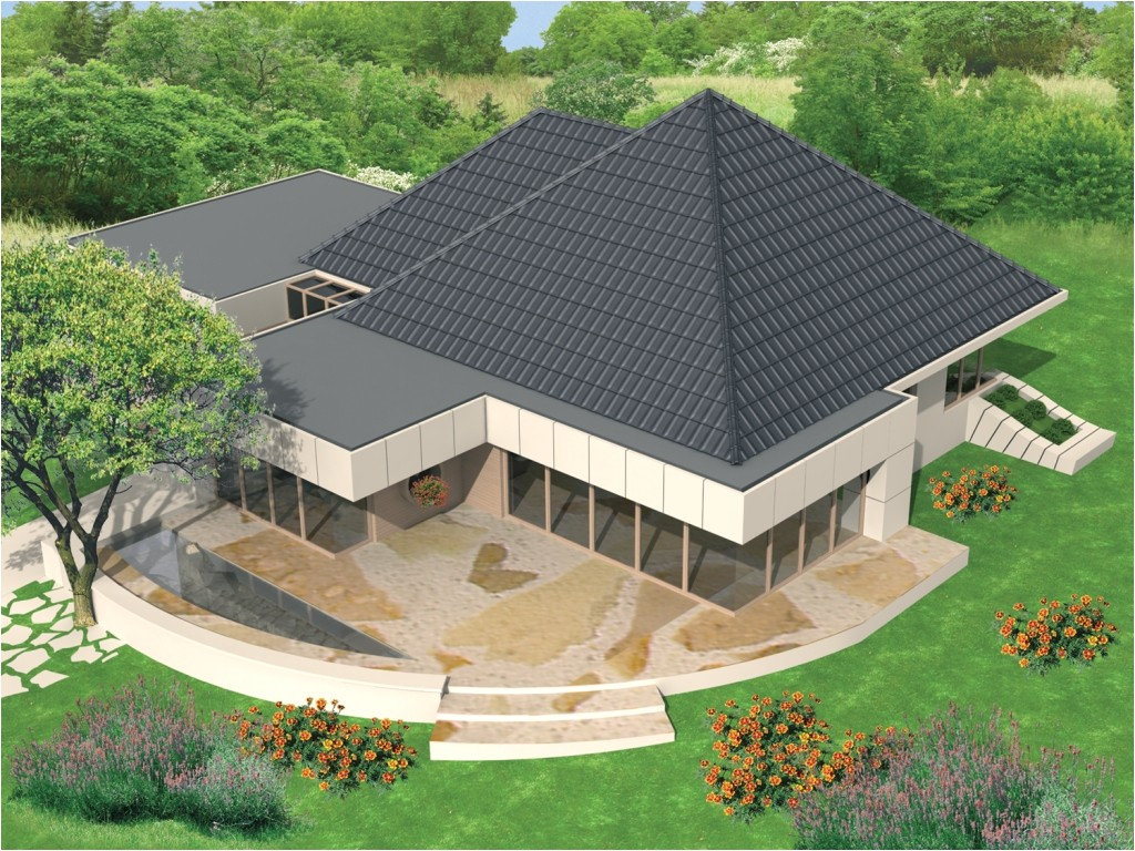 pyramid shaped home plans