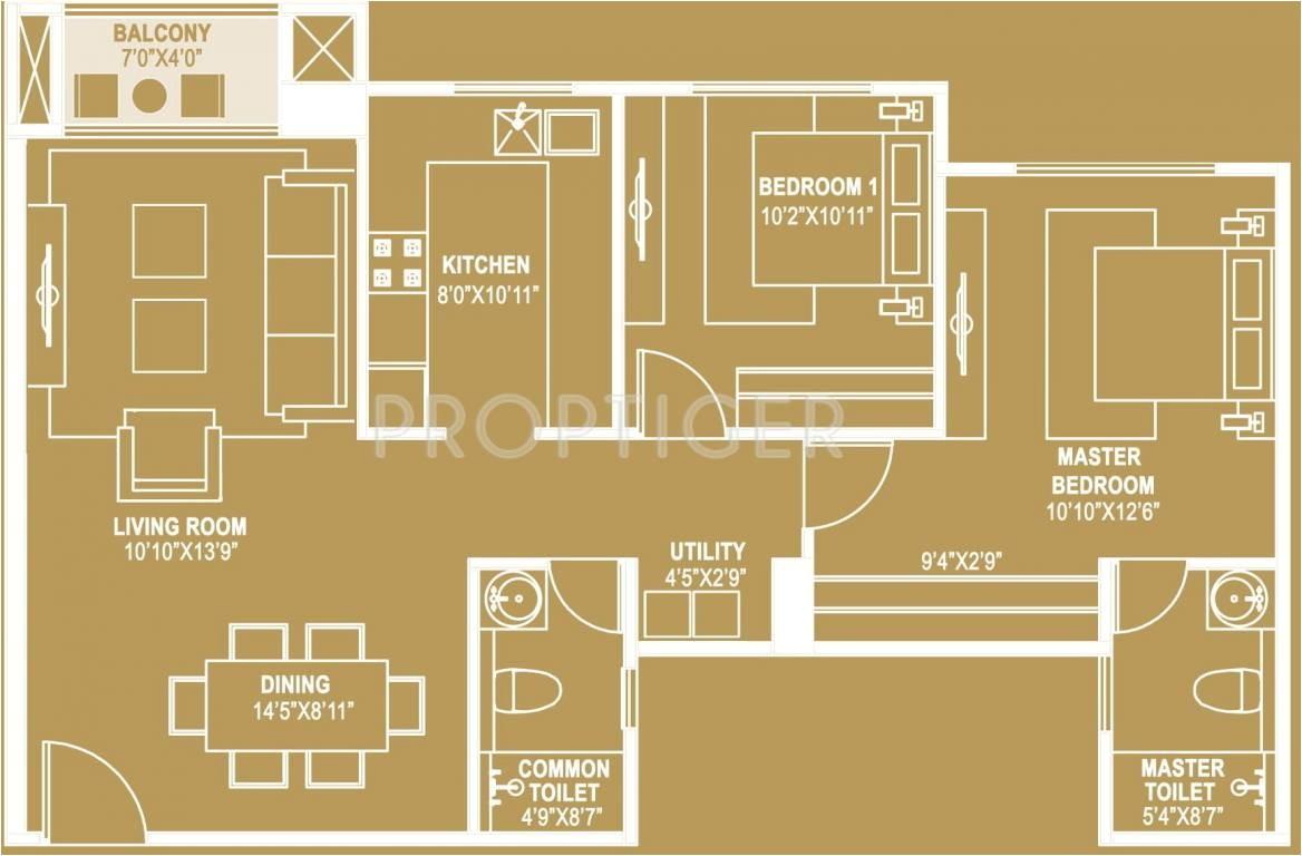 2bhk 2t 1210 sqft apartment