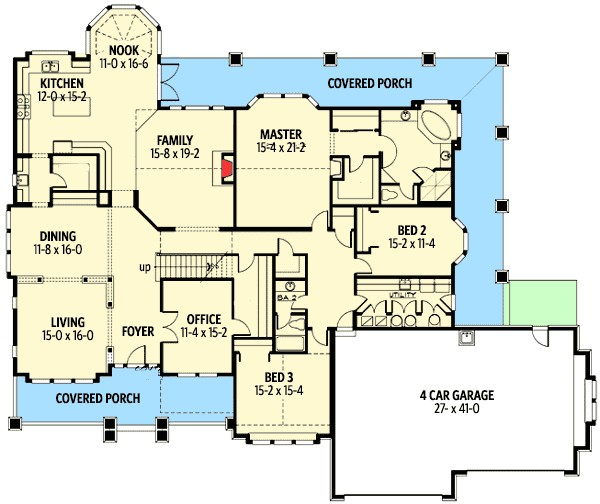 rambler with bonus room house plans