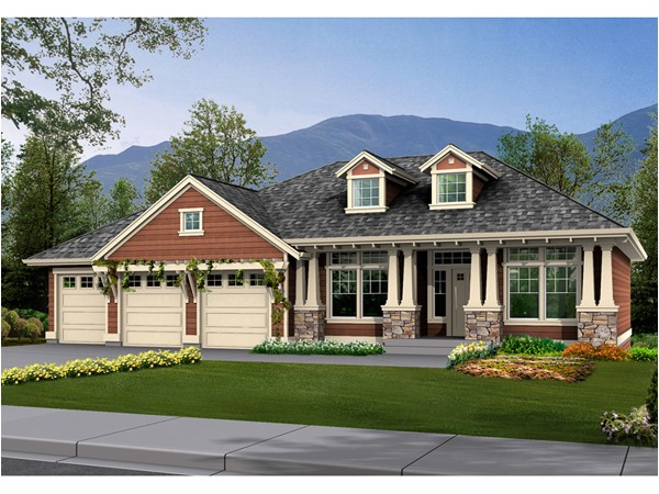 ranch house plans craftsman style
