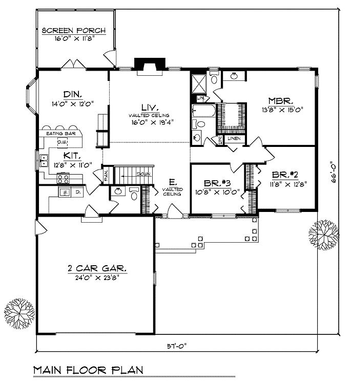 floorplans with bedrooms grouped together