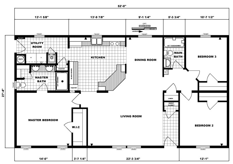 3 bedroom ranch floor plans