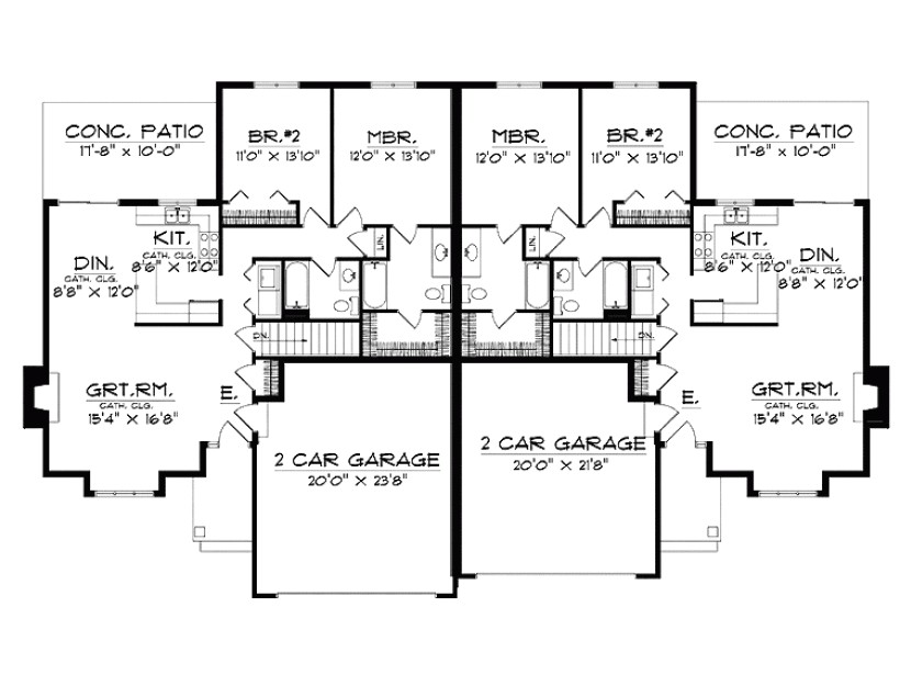 Ranch House Plans with Bedrooms together 6 Bedroom Ranch House Plans Homes Floor Plans