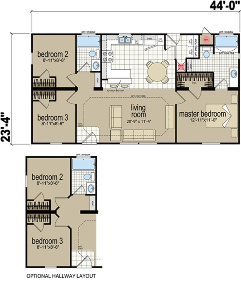 redman manufactured home floor plans