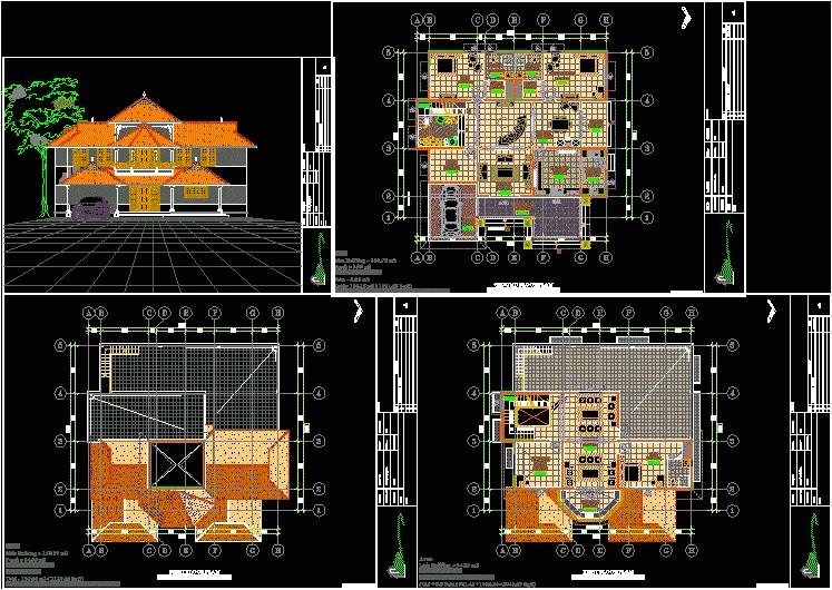 autocad house plans dwg file
