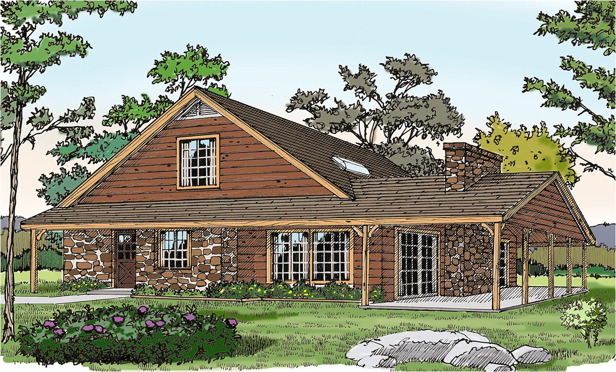 rustic vacation home with a big porch 3860ja