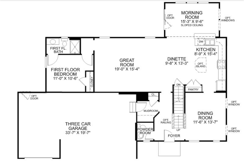 ryan homes floor plans milan