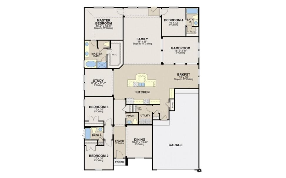 new ryland homes orlando floor plan