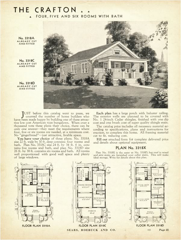sears kit homes floor plans