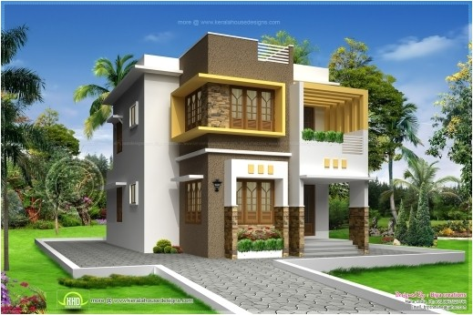 inspiring small double storied contemporary house design home kerala plans kerala simple house two floor with plans photos