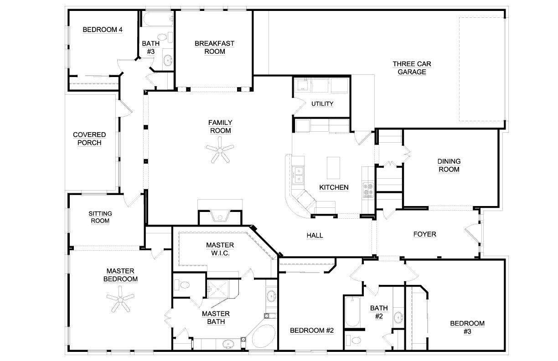 6 bedroom simple house plans best of ranch floor 4 bedrooms 11 six plan