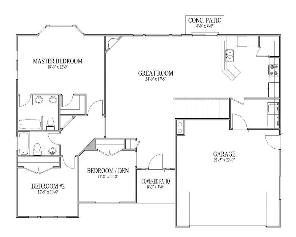 simple ranch house plans awesome simple open ranch floor plans