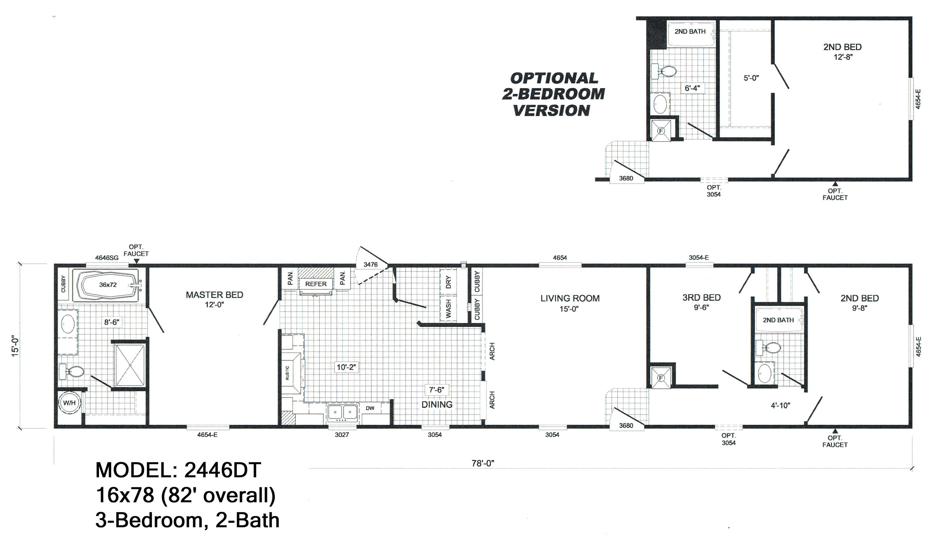 single wide floorplans