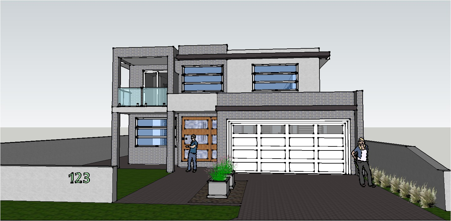 modern house plans autocad
