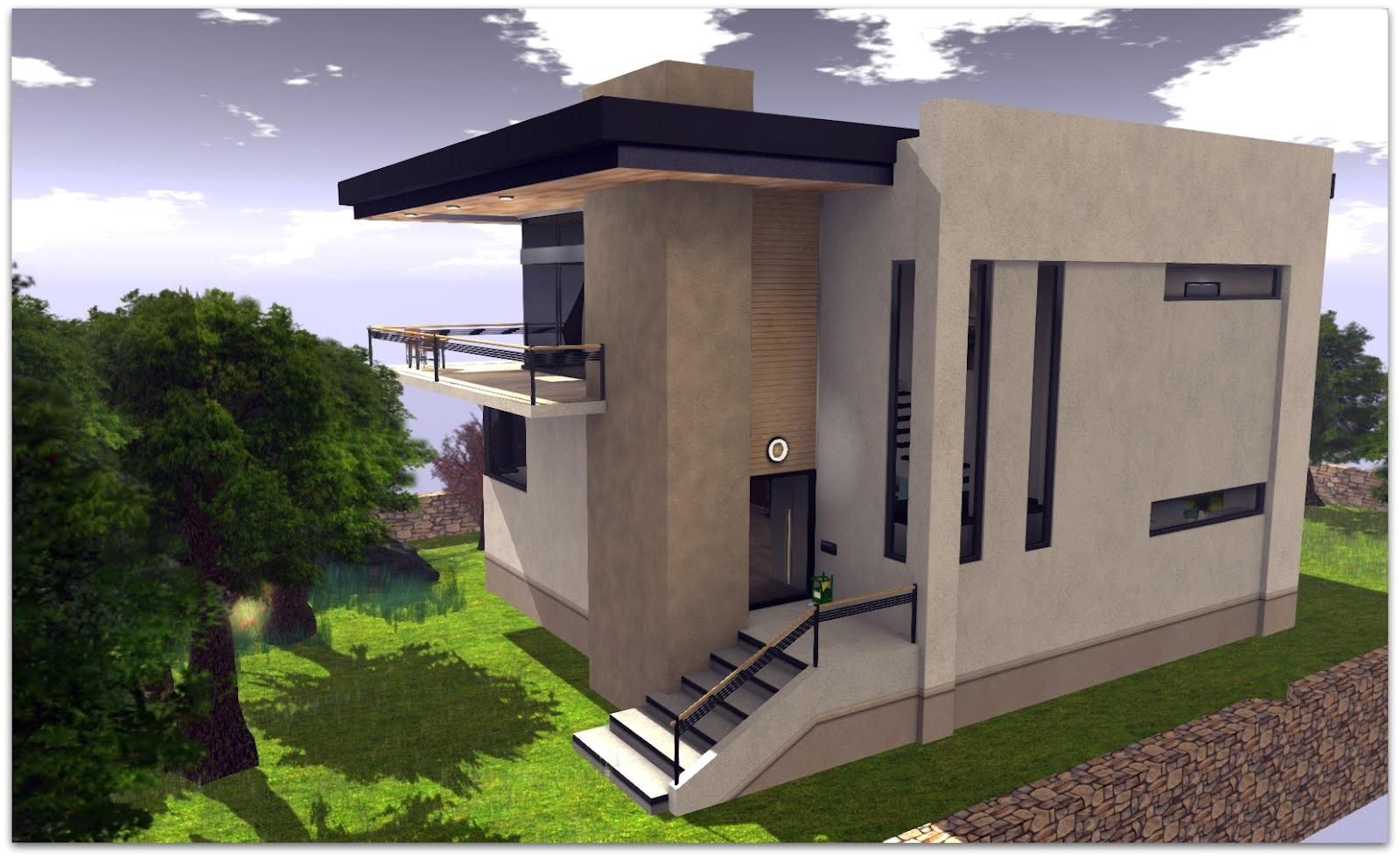 modern concrete block house plans