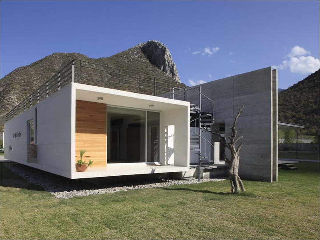 small concrete house plans modern