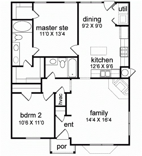 beautiful house plan small under 1200 square feet