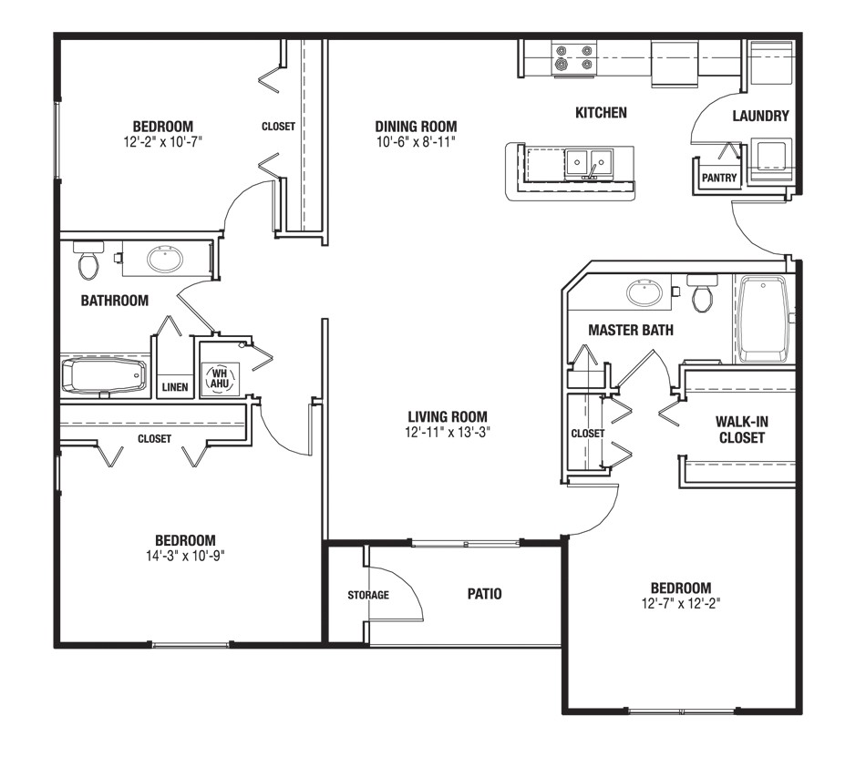 big great room house plans
