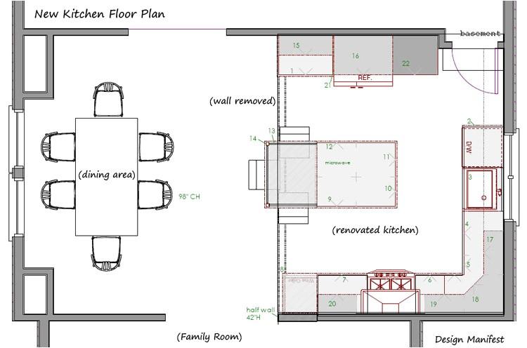 havertown kitchen floor plan design manifest