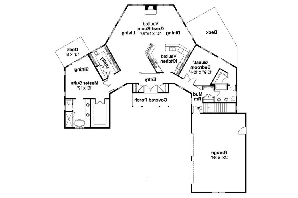 odd shaped lot house plans
