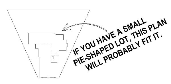 Small Pie Shaped Lot House Plans Sullivan Home Plans Perfect House for tough Pie Shaped Lot