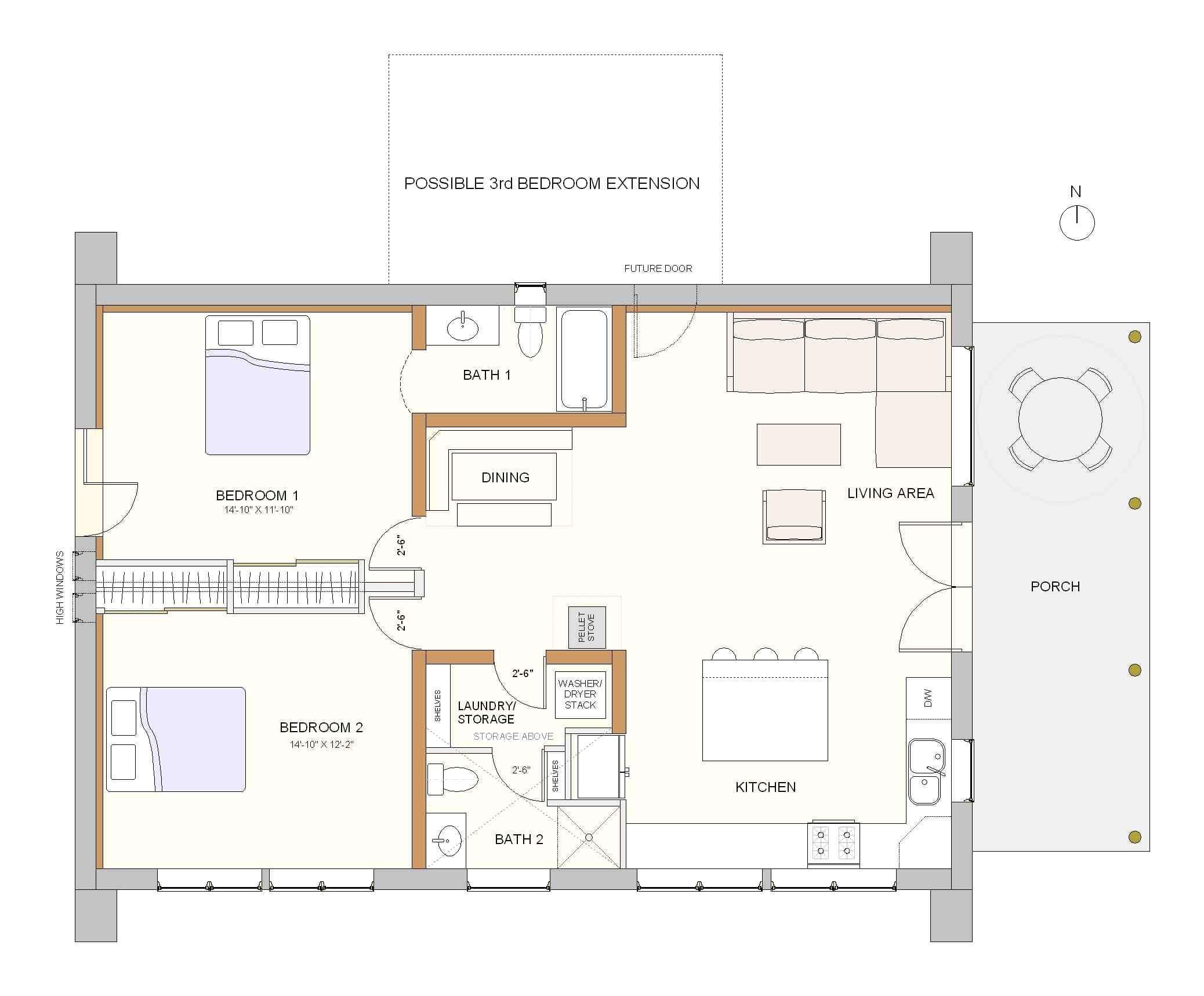 space saving floor plans