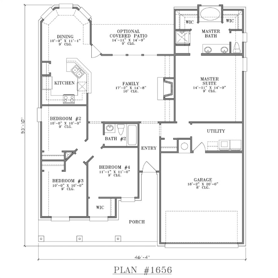 spacious home with floor plan enclosed patio two bedroom house plans