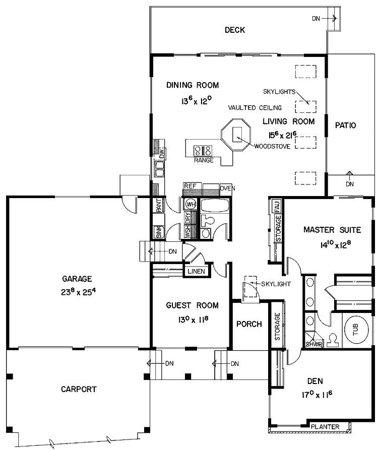 elegant modern minimalist spacious two bedroom house plans design