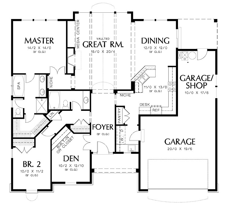 luxury house design two bedrooms spacious garage square house plans