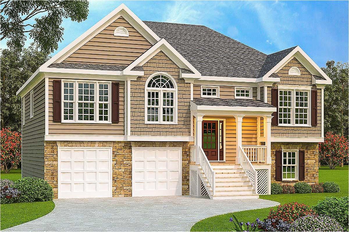 3 bed split level house plan 75430gb