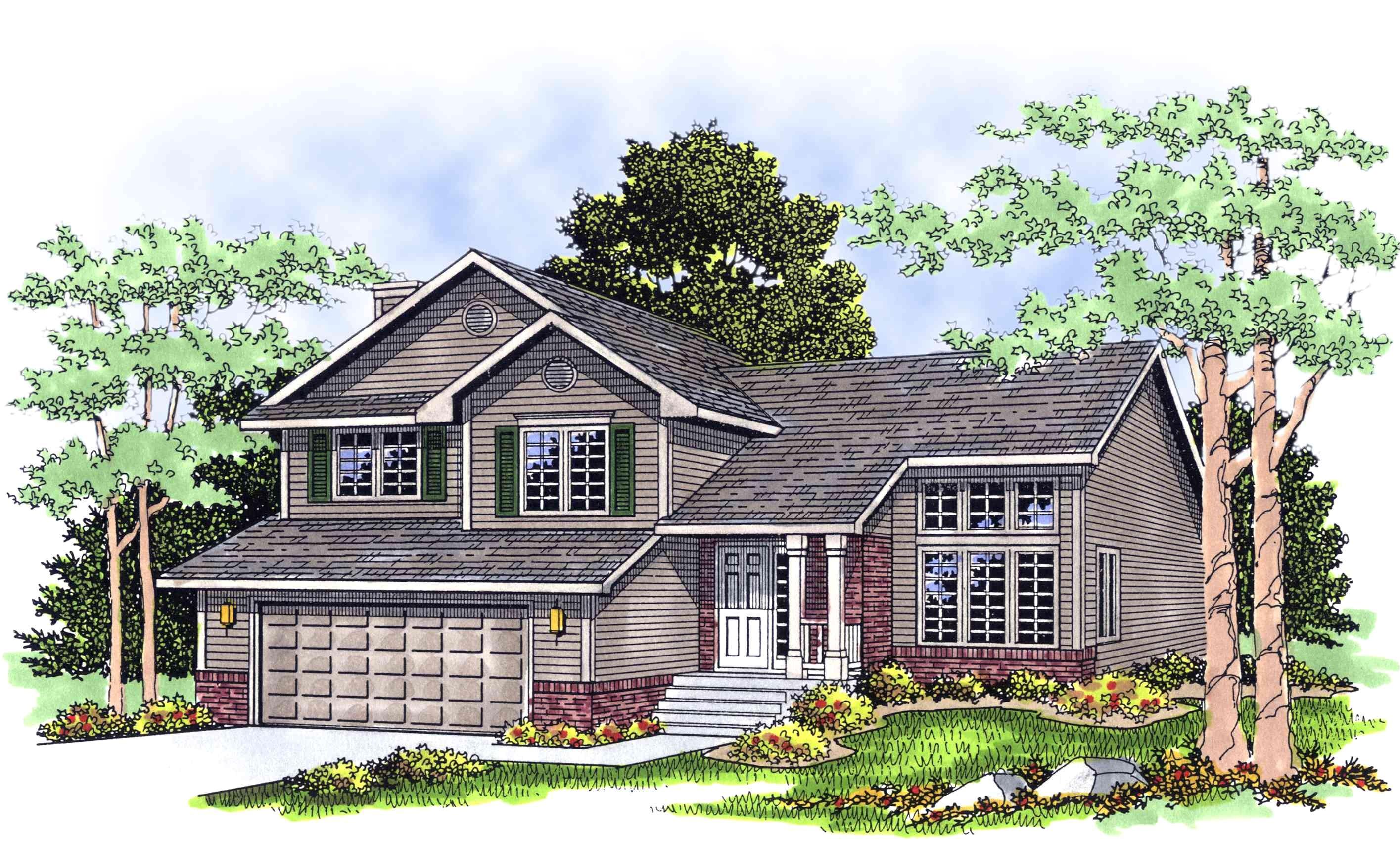 split level home plan 8963ah