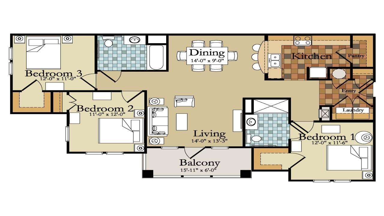 split plan house