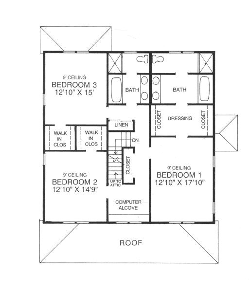 four square house floor plan